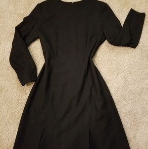 EUC- Beautiful Black JNY Dress w/ Pleated Skirt